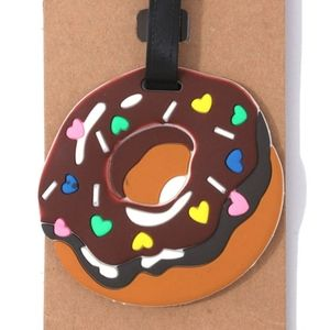 Donut graphic luggage✈baggage tag id•NWT•+more!